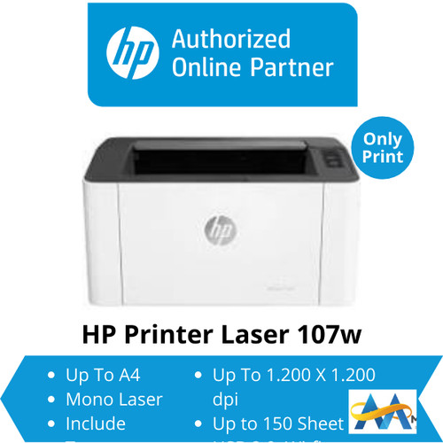Foto Produk HP Laser Printer MFP 107w HP Laserjet MFP-107w Wifi Wi-Fi Monochrome dari myprinter.id