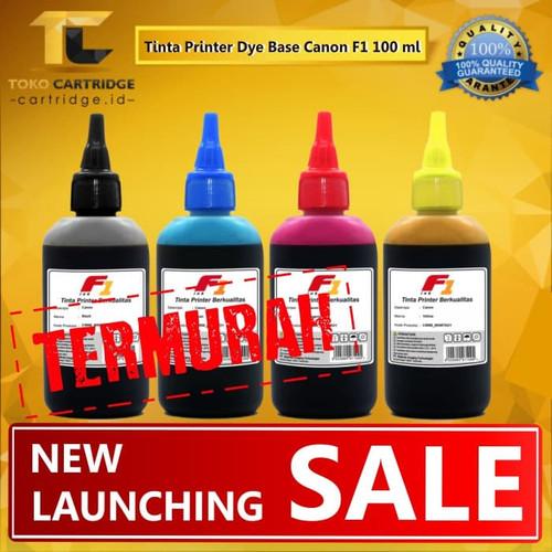 Foto Produk Tinta Dye Base F1 Canon 100ml 1 Set Warna Black Cyan Magenta Yellow - F1 INK dari TokoCartridgeOnline