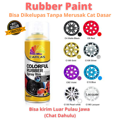 Foto Produk Carlas Rubber Paint (400ml) - Gearing Silver dari Family Brick And Toys