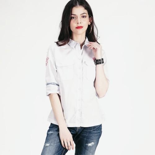 Foto Produk LOGO JEANS - KEMEJA LENGAN PANJANG WATERFALL BLUE SHIRT ( 24468L5BB ) - Biru Muda, M dari Logo Jeans