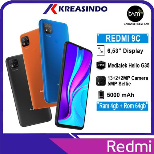 Foto Produk Xiaomi Redmi 9C 4/64 Ram 4gb Internal 64gb Garansi Resmi TAM - Abu-abu dari Kreasindo Online