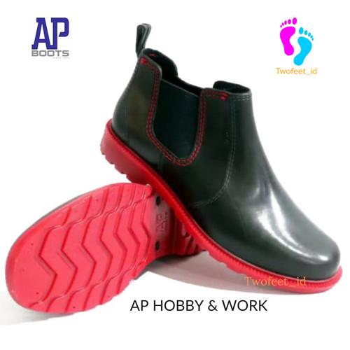 Foto Produk Sepatu Boot Pantofel Karet Hobby and Work by AP Boots PVC Waterproff - Hitam, 39 dari TwoFeet_id