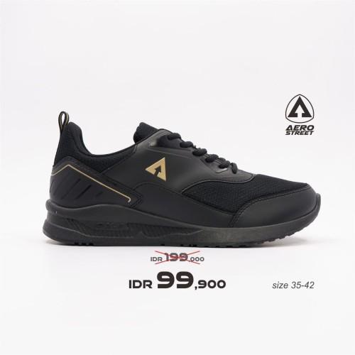 Foto Produk Aerostreet 35-42 Tiger Hitam Emas - Sepatu Sneakers Casual Sport - 35 dari Aerostreet