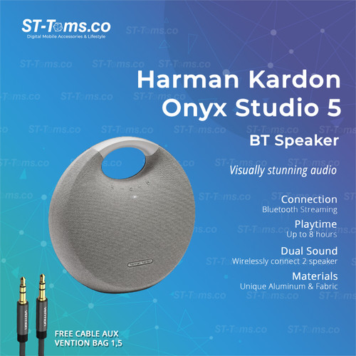 Foto Produk Harman Kardon Onyx Studio 5 / Onyx 5 Bluetooth Portable Speaker - Abu-abu dari ST-Toms.co