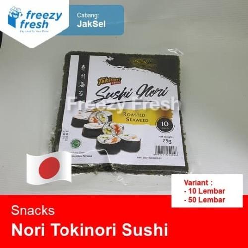 Foto Produk Nori Tokinori Sushi Nori - Roasted Seaweed - Rumput Laut Panggang - 10 lembar dari Freezy Fresh