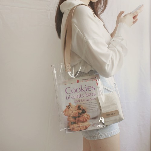 Foto Produk Clear PVC Tote Bag Custom Nama dari Alloha Case
