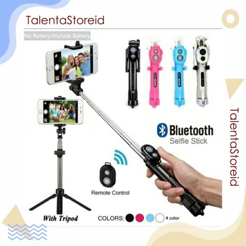 Foto Produk Tongsis Tripod Multifungsi Bluetooth (Free Tomsis Bluetooth) - Hitam dari TalentaStore