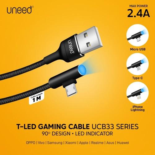 Foto Produk UNEED T-LED Kabel Data Lightning Fast Charging Max 2.4A - UCB33i dari Uneed Indonesia