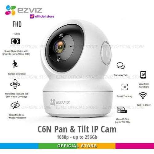 Foto Produk Ezviz C6N Smart Wifi Pan Tilt Camera 1080p Garansi Resmi dari Ezviz Official Store