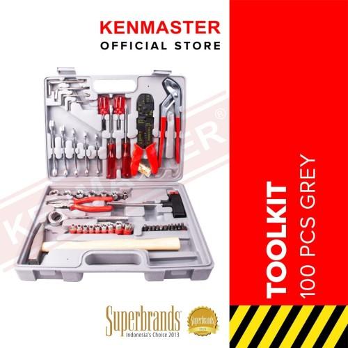 Foto Produk Kenmaster Tool kit 100pcs N2 (Grey) dari Kenmaster Official
