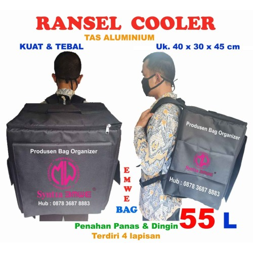 Foto Produk Tas Ransel Cooler Bag Delivery Kurir Aluminium foil Box Motor Gojek dari Produsen bag organizerMW