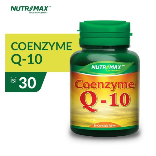 Foto Produk Nutrimax Coenzyme Q-10 isi 30 Tablet Kunyah dari Nutrimax Official Store