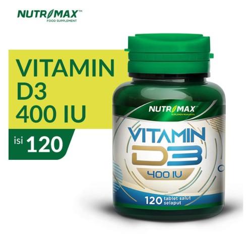Foto Produk NUTRIMAX VITAMIN D3 400 IU 120 VITAMIN KESEHATAN TULANG GIGI IMUNITAS dari Nutrimax Official Store