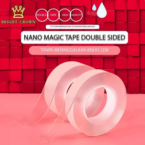 Foto Produk Magic Tape Nano / Double Tape / Super Tape / Isolasi Bening super Kuat - 1M tebal 1mm dari Kerajaan karpet