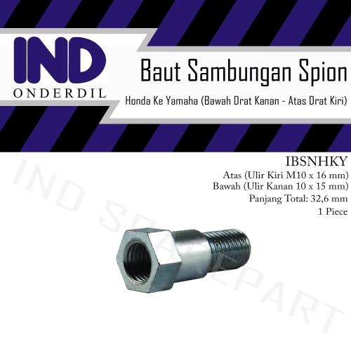 Foto Produk Baut-Baud Sambungan Spion Atas Drat Kiri-Bawah Kanan Honda ke Yamaha dari IND Onderdil