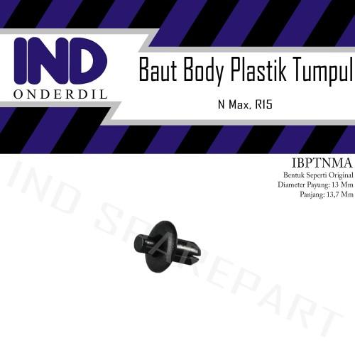 Foto Produk Baut Kancing-Klip Plastik Rivet Body Bentuk Orisinil-Ori NMax/R15 dari IND Onderdil
