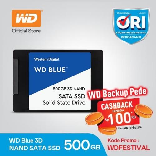 """Foto Produk WD Blue 3D Nand SSD 500GB - WDC Western Digital 500 GB Sata3 2.5"""" dari Jaya Pro Computer"""