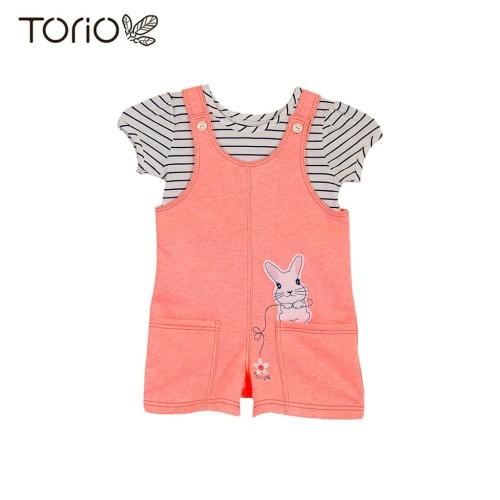 Foto Produk Torio Cute Bunny Overall Set - Baju Setelan Jumper Anak Perempuan - 4-5 tahun dari Torio
