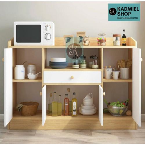 Foto Produk Lemari Rak Dapur Minimalis dan Serbaguna Kirim Via Gojek/Grab - Cream dari Kadmiel Shop