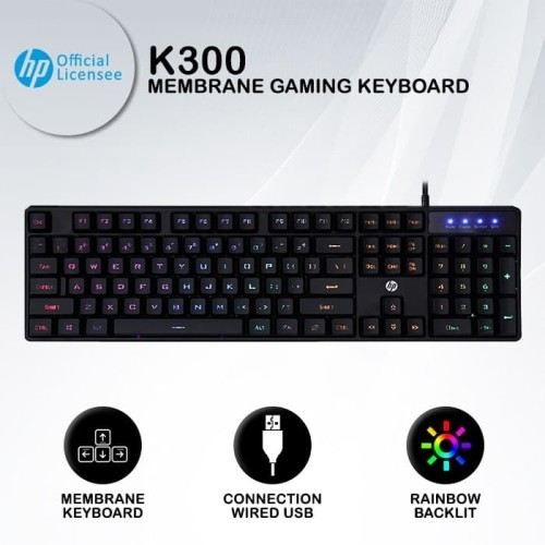 Foto Produk HP Keyboard Gaming Membrane K300 dari HP Gaming Official