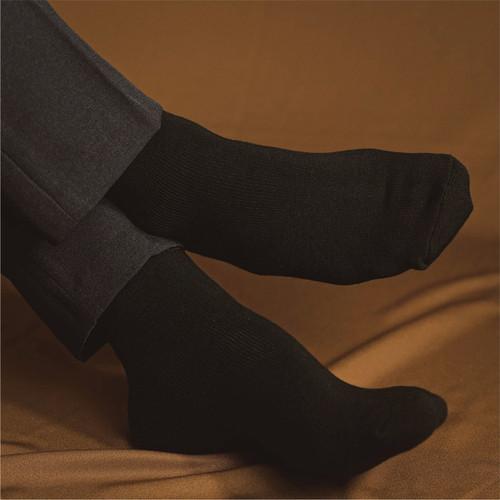 Foto Produk HOUSEOFCUFF kaos kaki socks hitam formal tebal sepatu - Hitam dari House of Cuff