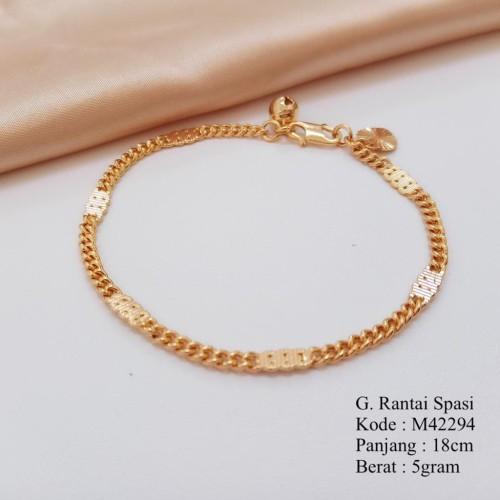 Foto Produk MISSI AKSESORIS GELANG TANGAN GEPENG 6 EMAS IMITASI 415048 dari Missi Fashion Jewelry