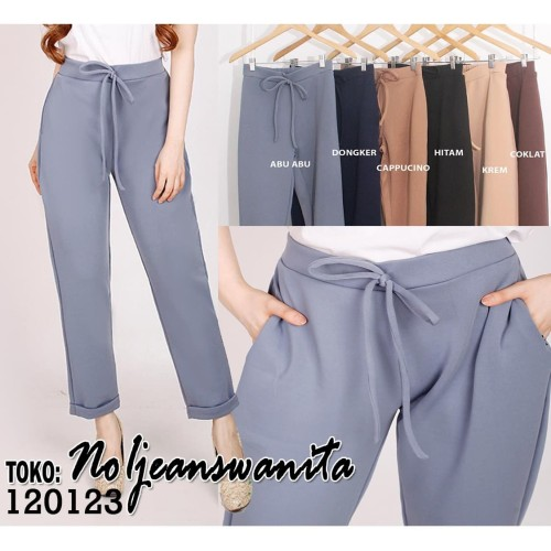 Foto Produk Celana Panjang Wanita / Celana Bahan Wanita / Celana Kulot / Pants - Hitam dari no1 jeans wanita