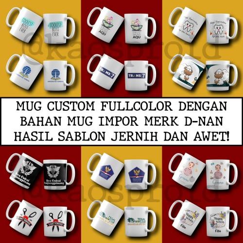 Foto Produk Cetak Mug Gelas Custom Express Tanpa PO Langsung Jadi| Satuan / Grosir dari Kaosproid
