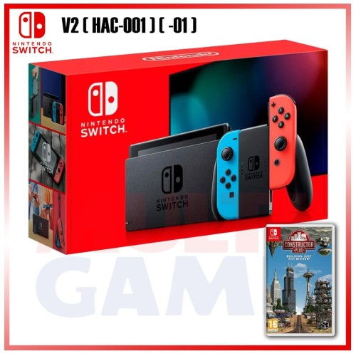 Foto Produk New Gen2 Nintendo Switch Neon +Game Constructor Plus DLC dari Multi Game Indonesia