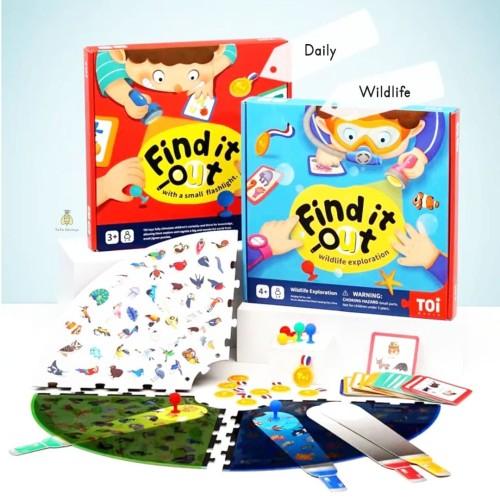 Foto Produk Toi Find It Out with Flashlight Detective Board Game | Tata Edutoys - Biru dari Tata_edutoys