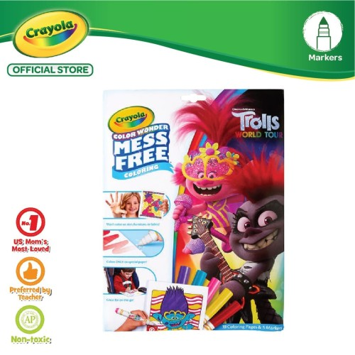 Jual Crayola Color Wonder Mess Free Coloring Pages Markers Trolls World Jakarta Barat Crayola Official Store Tokopedia