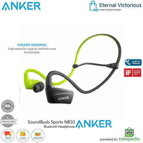 Foto Produk Headset Anker Soundbuds NB10 Sport in Ear Earphone Bluetooth Wireless - Hijau dari Eternal Victorious