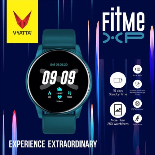 Foto Produk VYATTA Fitme XP Smartwatch - Full Touch, Custom Watch Face, IPX7 - Emerald Blue dari VYATTA PALEMBANG
