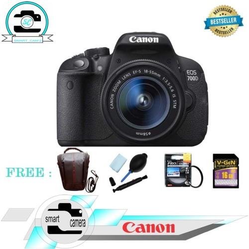 Foto Produk KAMERA CANON EOS 700D KIT 18-55 STM ( PAKETAN ) dari Smart Camera