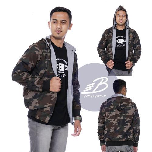 Foto Produk Jaket DC Army Pria Bolak-balik Despo Fleece Hijau Abu Jaket BB Loreng - L dari BOOSTER COLLECTION
