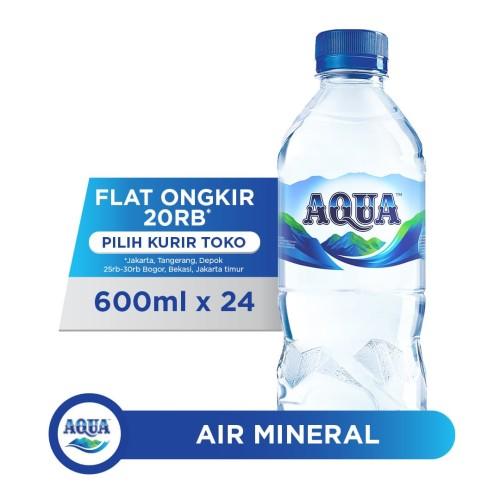 Foto Produk AQUA Air Mineral 600ml x 24 botol (1 box) dari AQUA Official Store
