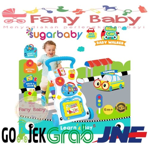 Foto Produk Sugar Baby Mini Car Baby Walker - Red White dari Fany Baby ITC Kuningan