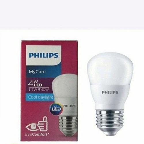 Foto Produk Bohlam LED PHILIPS / Lampu PHILIPS LED Bulb / Lampu LED PHILIPS 4W P45 - Putih dari Wobble