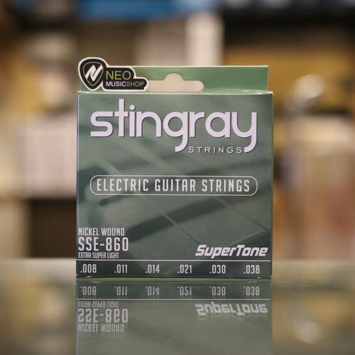 Foto Produk Senar Gitar Elektrik Stingray SSE-860 Nickel Wound 08-38 Extra Light dari NEO MUSIC