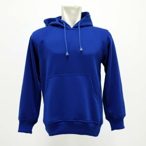Foto Produk (PROMO) Jaket Hoodie Sweater Polos Putih Biru Benhur - Blue - M dari Hoodie Center