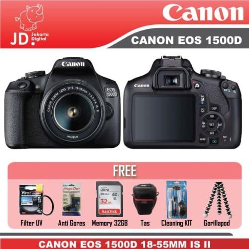 Foto Produk CANON EOS 1500D KIT 18-55MM IS II PAKET KOMPLIT 32GB dari Jakarta Digital