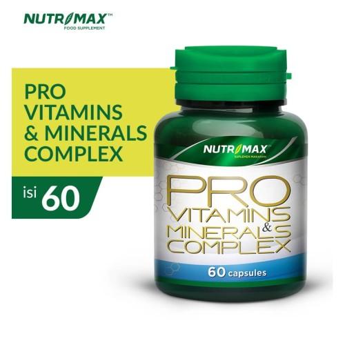 Foto Produk NUTRIMAX PRO VITAMINS & MINERAL COMPLEX 60 NATURECAPS dari Nutrimax Official Store