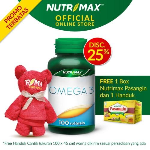 Foto Produk NUTRIMAX OMEGA 3 ISI 100 SOFTGEL dari Nutrimax Official Store