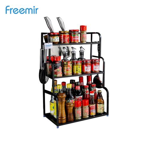 Foto Produk freemir Rak Bumbu Dapur Stainless steel 3 susun Serbaguna Tempat Botol - 0 dari freemir Official Store