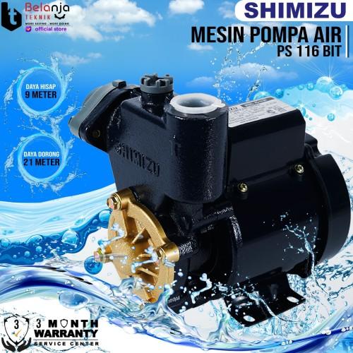 Foto Produk Mesin Pompa Air - Water Pump Shimizu PS 116 BIT - 9 Meter dari Belanja Teknik