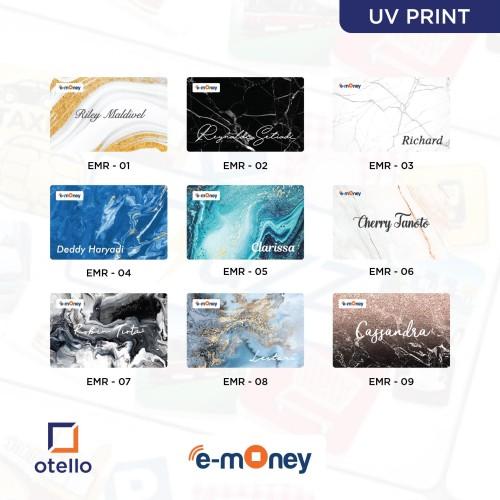 Foto Produk Kartu E-Money Marble   Kartu eMoney Marmer   Custom eToll Mandiri - Print 1 Sisi, EMR 01 dari Otello Laser Cut