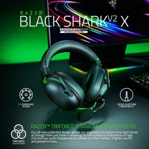 Foto Produk Razer Blackshark V2 X - Gaming Headset dari Goodgamingshop