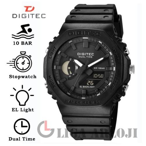 Foto Produk Digitec DG-3119T - Jam Tangan Pria - Double Time GA2100 / GA-2100 dari Liga Arloji