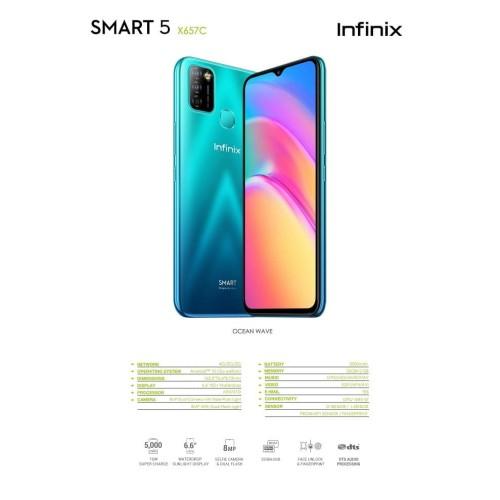 Foto Produk Infinix Smart 5 Smartphone - 2/32GB - Garansi Resmi - Ocean Wave dari Gadhet-Holic