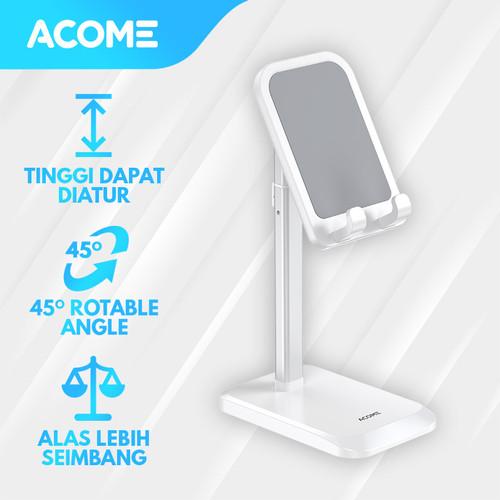 Foto Produk Acome Liftable Phone Holder Stand HP Tablet AH02 Garansi Resmi 1 Tahun - White dari Acome Indonesia